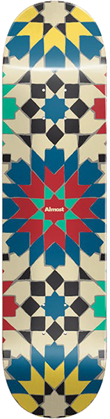 ALMOST TILE PATTERN SKATEBOARD DECK 8.0