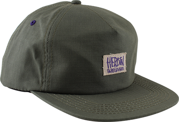 HEROIN SKATEBOARDS LOGO PATCH HAT