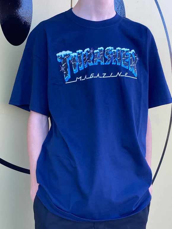 THRASHER MAGAZINE BLACK ICE SHIRT