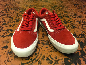 VANS OLD SKOOL RED / WHITE SKATE SHOE