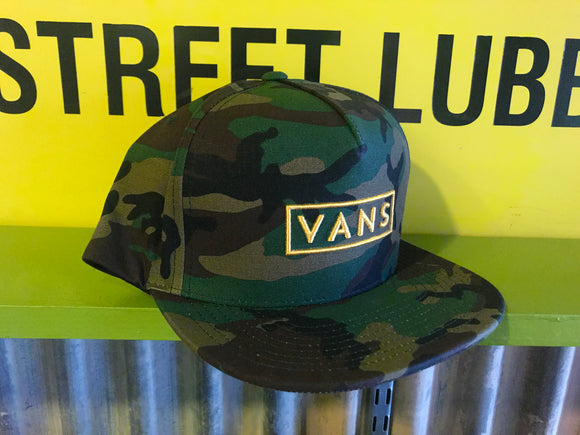 VANS EASY BOX CAMO SNAPBACK HAT
