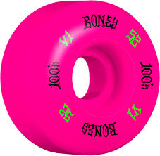 BONES 100'S 52MM SKATEBOARD WHEELS