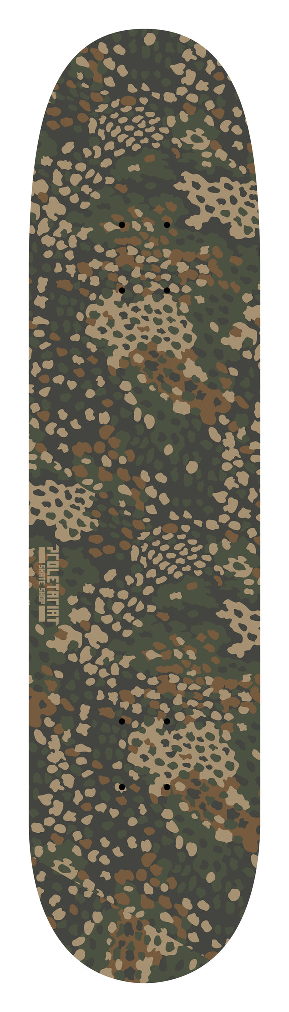 PROLETARIAT SKATE SHOP CAMO SKATEBOARD DECK