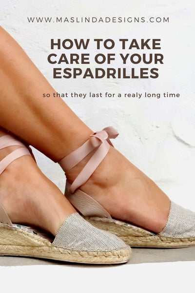 How to take care of your espadrilles