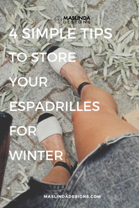 4 Simple tips to properly store your espadrilles for winter