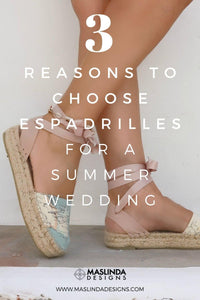 3 Reasons to choose espadrilles for a summer wedding