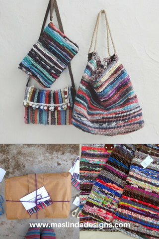 Collection of kilim bags
