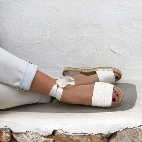 white wedding espadrilles sandals maslinda designs