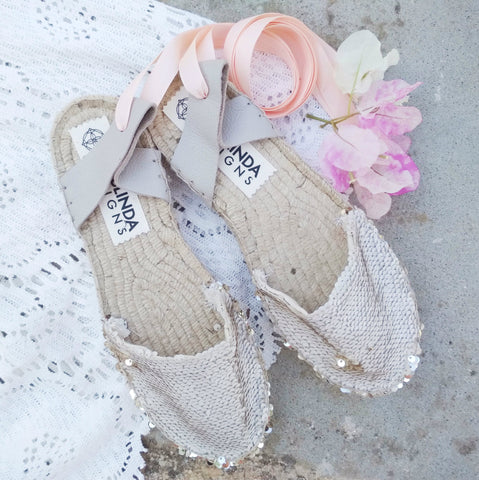 sequin wedding espadrilles maslinda designs