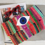 Evil Eye Kilim Clutch 24702 - Maslinda Designs