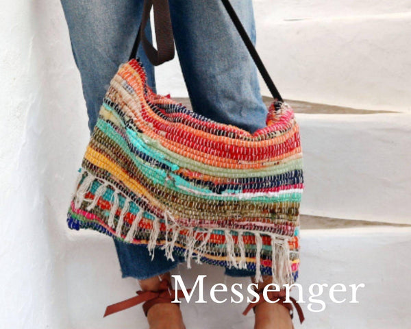 LARGE MESSENGER BAG - Maslinda Designs