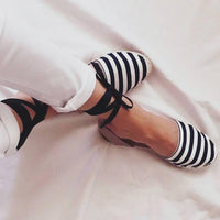 Navy Stripes Espadrilles Sandals