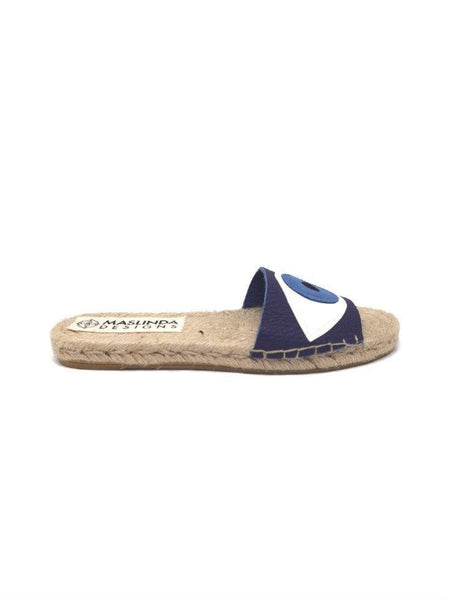 EVIL EYE ESPADRILLES SLIDES - 5 COLORS - Maslinda Designs