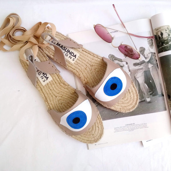 EVIL EYE SANDALS - 5 COLORS - Maslinda Designs