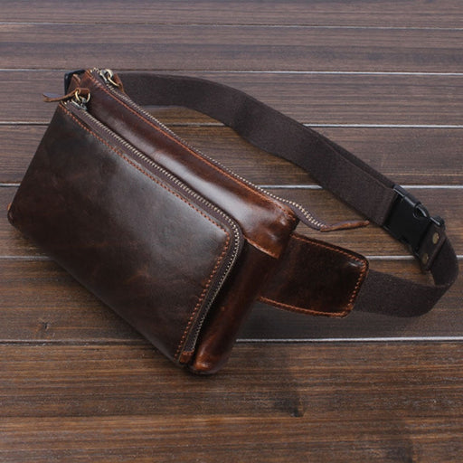 Oil Wax Leather Vintage Fanny Pack