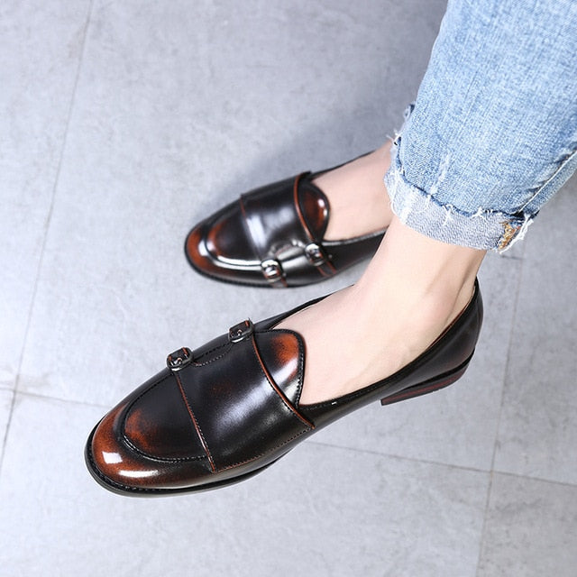 British Monk Strap Loafers