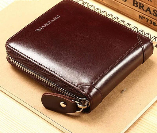 Leather Zipper Wallet
