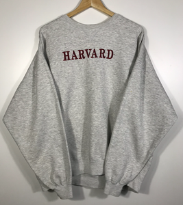 Vintage Embroidered Harvard Crewneck - XL