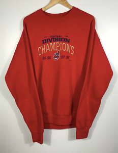 LEE Sport Embroidered Cleveland Indians Crewneck - XL