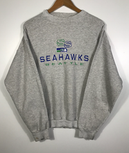 Load image into Gallery viewer, Vintage Embroidered Seattle Seahawks Crewneck - S
