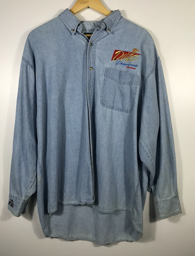 Dale Earnhardt Racing Denim Button Shirt - L