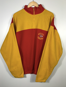 Embroidered Kansas City Chiefs Quarter Zip Fleece - L