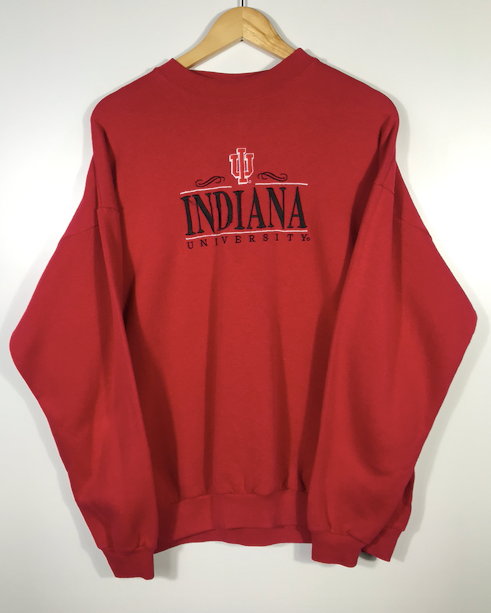 Embroidered Indiana University Crewneck - L