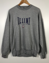 Load image into Gallery viewer, Embroidered Illini Illinois Crewneck - L