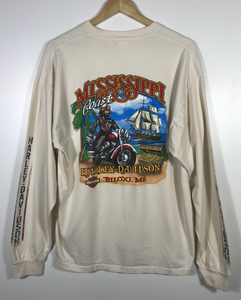 Biloxi Long Sleeved Harley Tee - XL