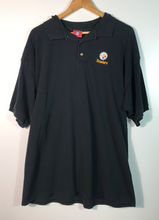 Load image into Gallery viewer, Embroidered Pittsburgh Steelers Polo Top - XXL