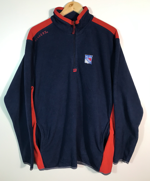 New York Rangers Quarter-Zip  Fleece - XL