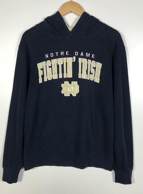 Embroidered Notre Dame Fighting Irish Hoodie - S