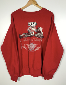Embroidered Nutmeg Wisconsin Badgers Rose Bowl Crewneck - XL