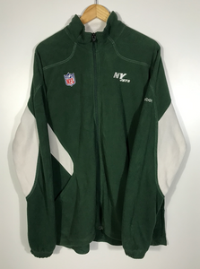 Embroidered New York Jets Zip-Up Fleece - XXL