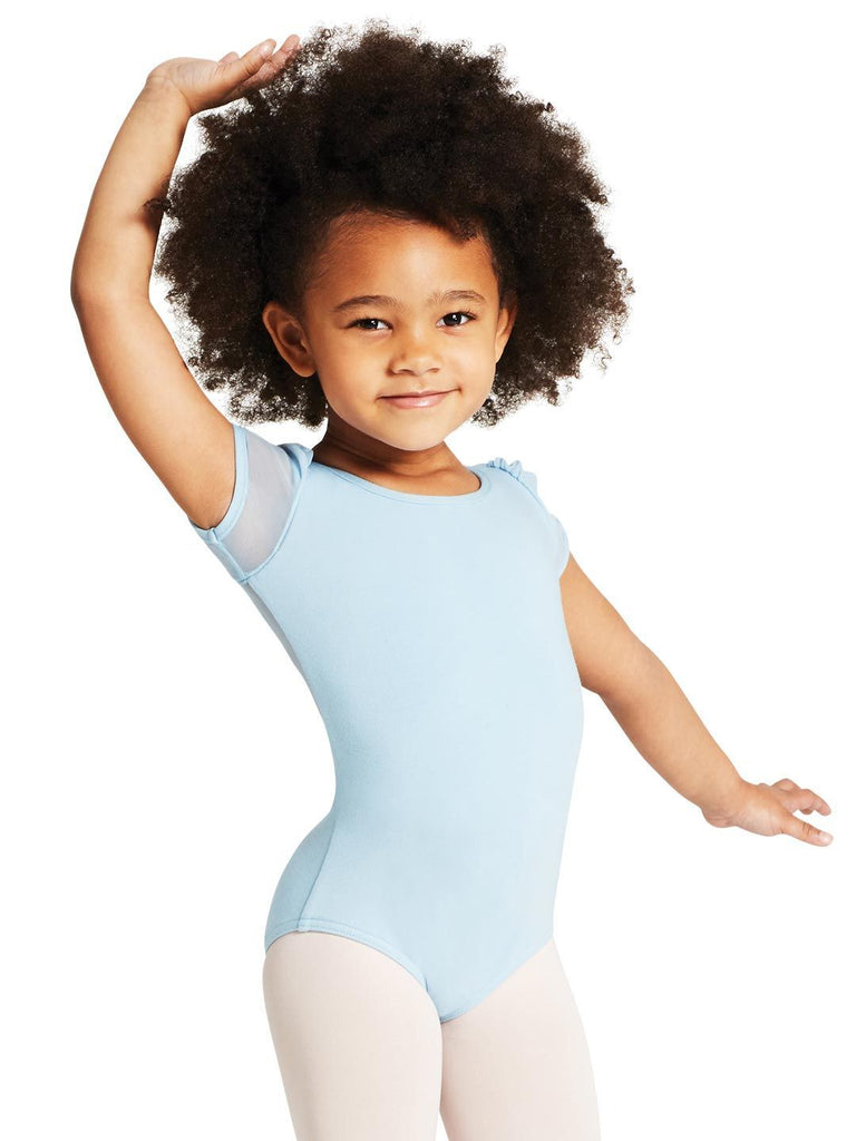 Child Puff Sleeve Keyhole Back Leotard Leotards Capezio Child T Black