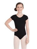 Child Short Sleeve Leotard Leotards Capezio Child T Black