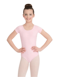 Child Short Sleeve Leotard Leotards Capezio Child T Pink