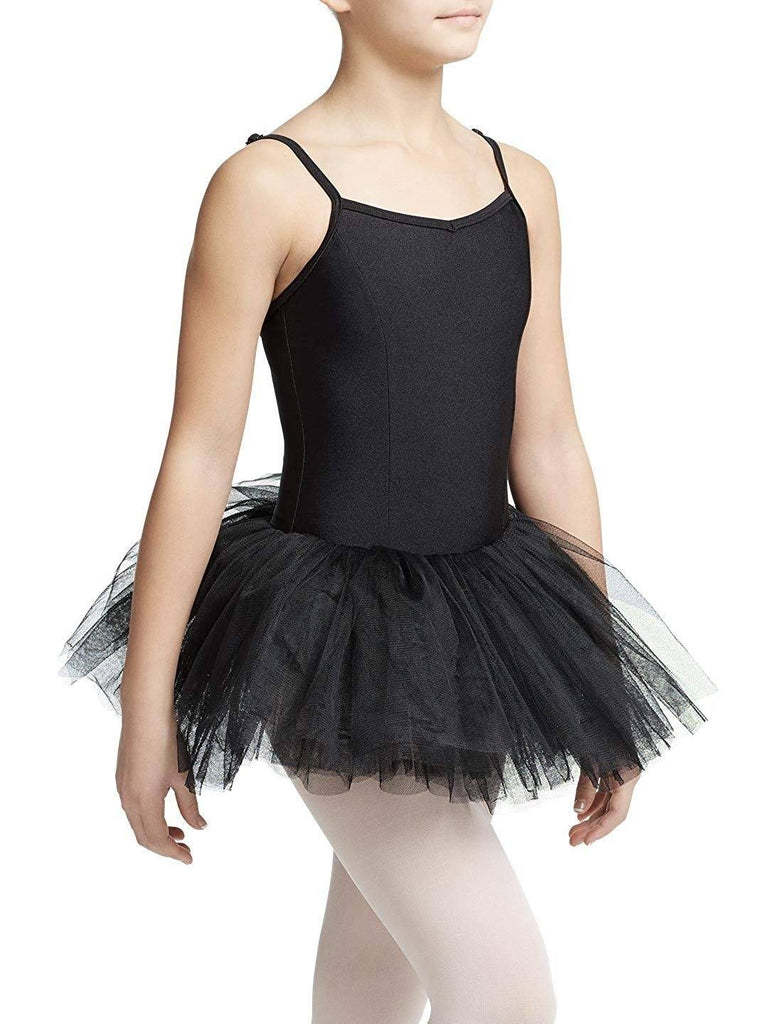 Child Tutu Leotard with Adjustable Straps Leotards Capezio Child T Black