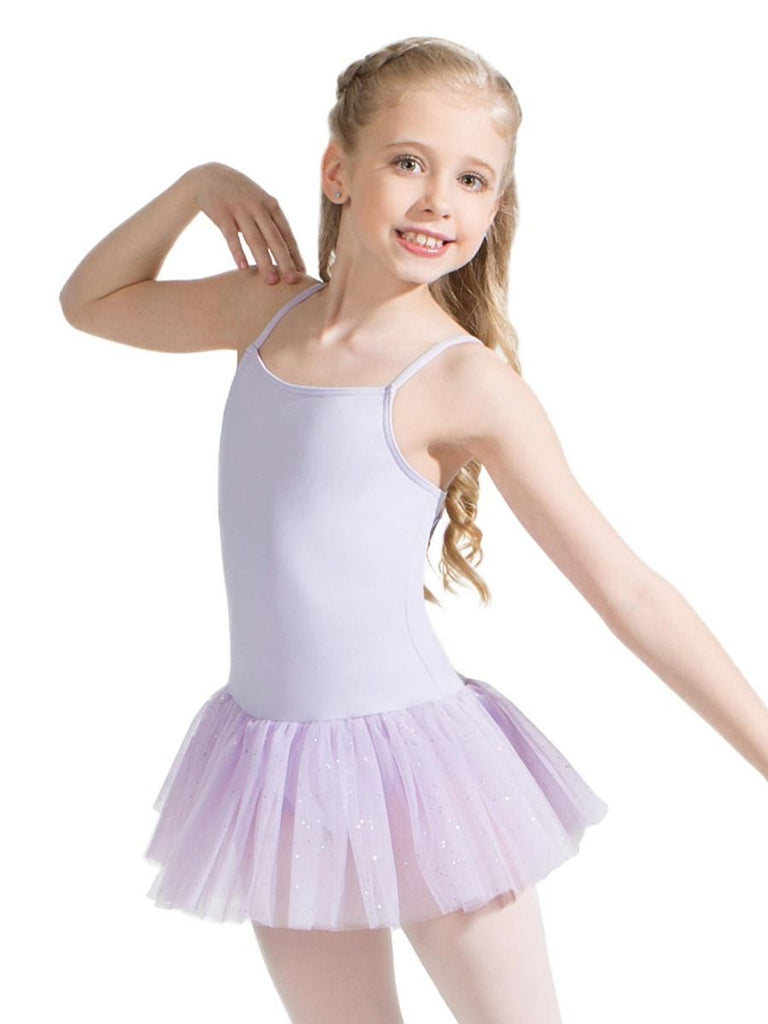 Children's Tutu Dress with Glitter Dresses Capezio Child T Lavender