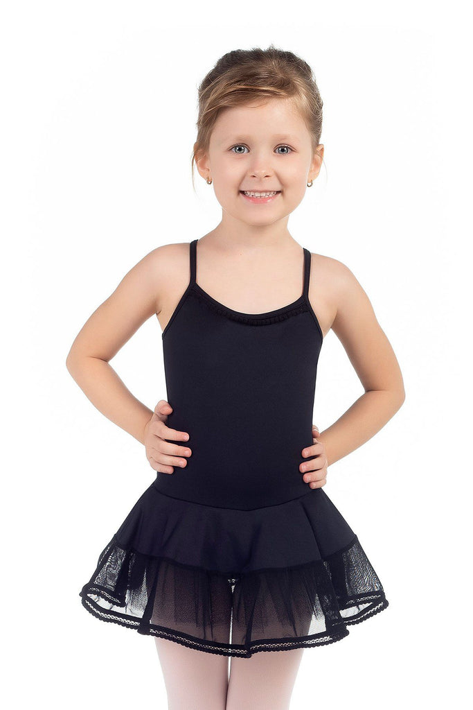 Curls Child Dress Leotard w/Attached Skirt Dresses Só Dança Child 2-4 Black