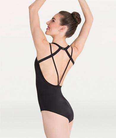 Double Strap Adult Leotard Leotards Body Wrappers Adult XS Black