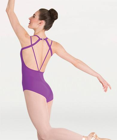 Double Strap Adult Leotard Leotards Body Wrappers Adult XS Bright Violet