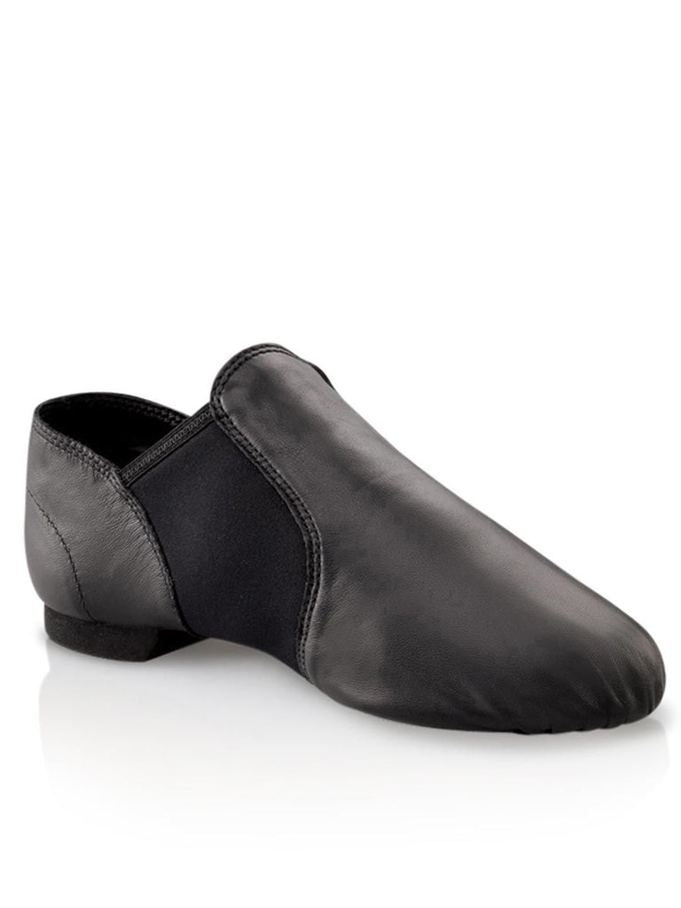 E-Series Slip-on Child Jazz Shoe Jazz Shoes Capezio Child 12 Black Width-M