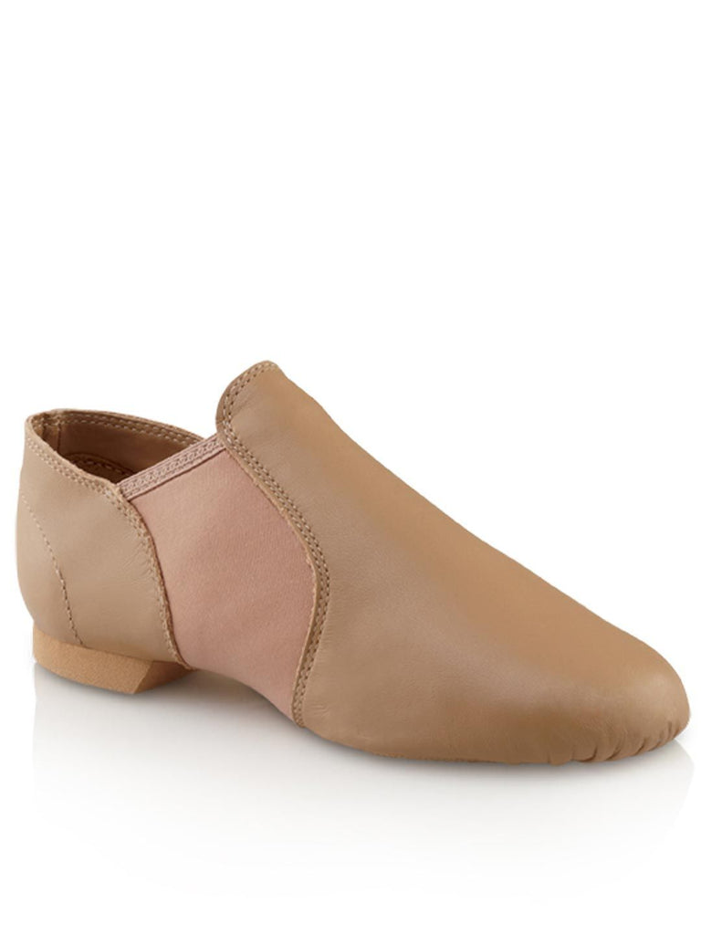 E-Series Slip-on Child Jazz Shoe Jazz Shoes Capezio Child 12 Caramel Width-M