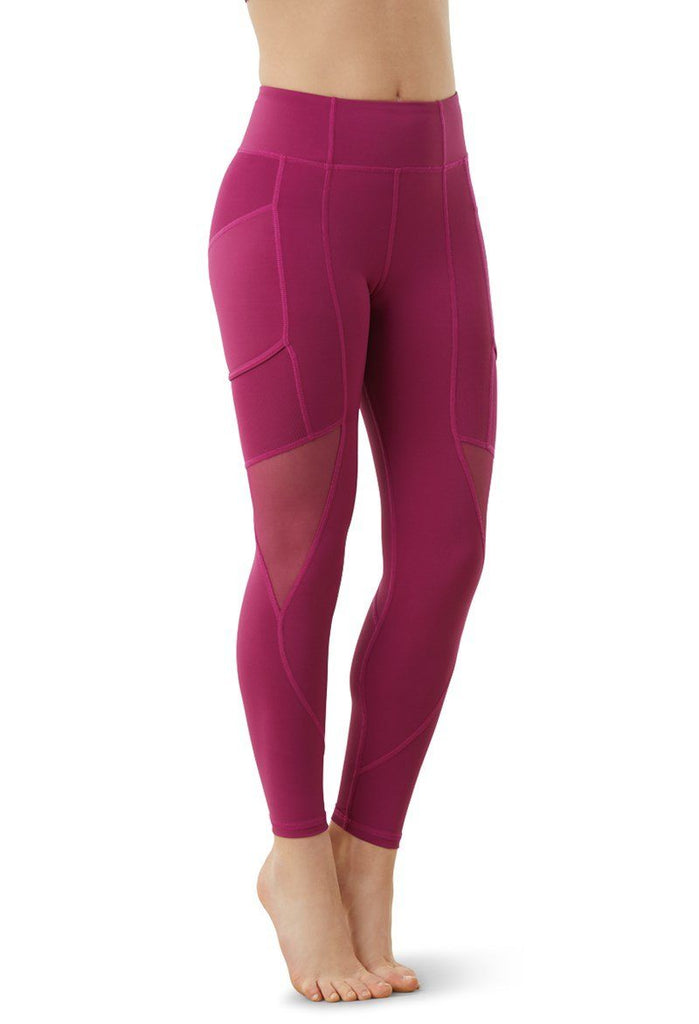 FlexTek Mesh Pocket Leggings Bottoms FlexTek Child S Mulberry