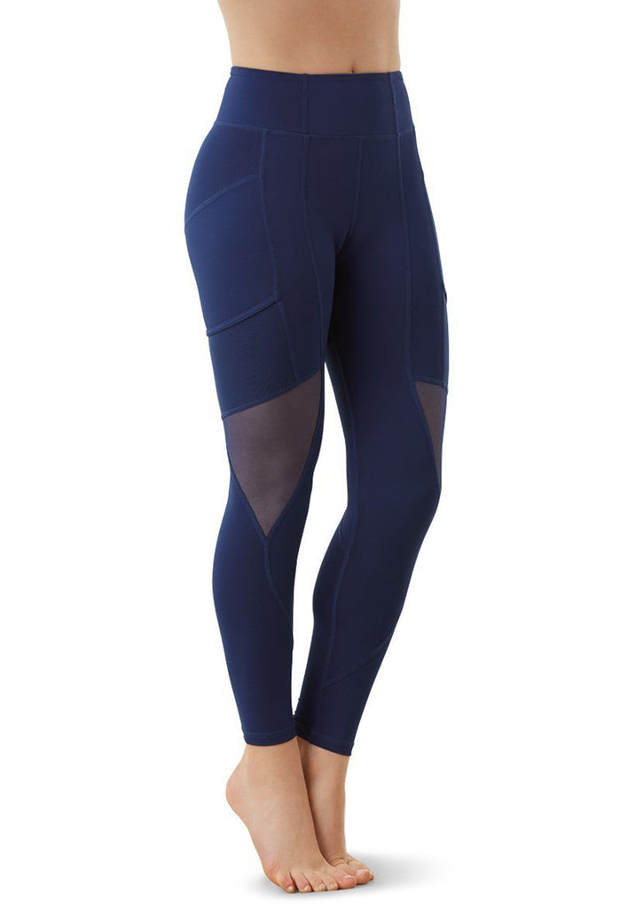 FlexTek Mesh Pocket Leggings Bottoms FlexTek Child S Navy
