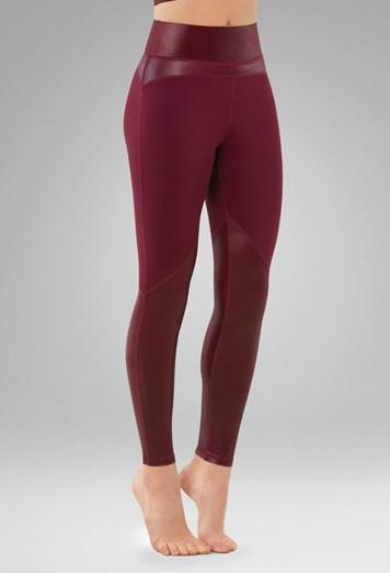 FlexTek Shimmer Leggings Bottoms FlexTek Child S Black Cherry