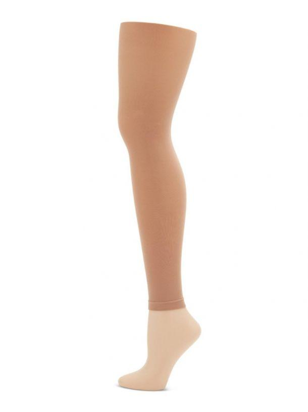 Footless Adult Tight with Self Knit Waist Band Tights Capezio Adult S/M Light Suntan