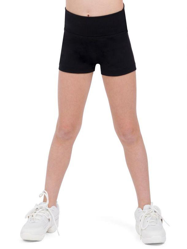 High Waisted Shorts Bottoms Capezio Child M Black