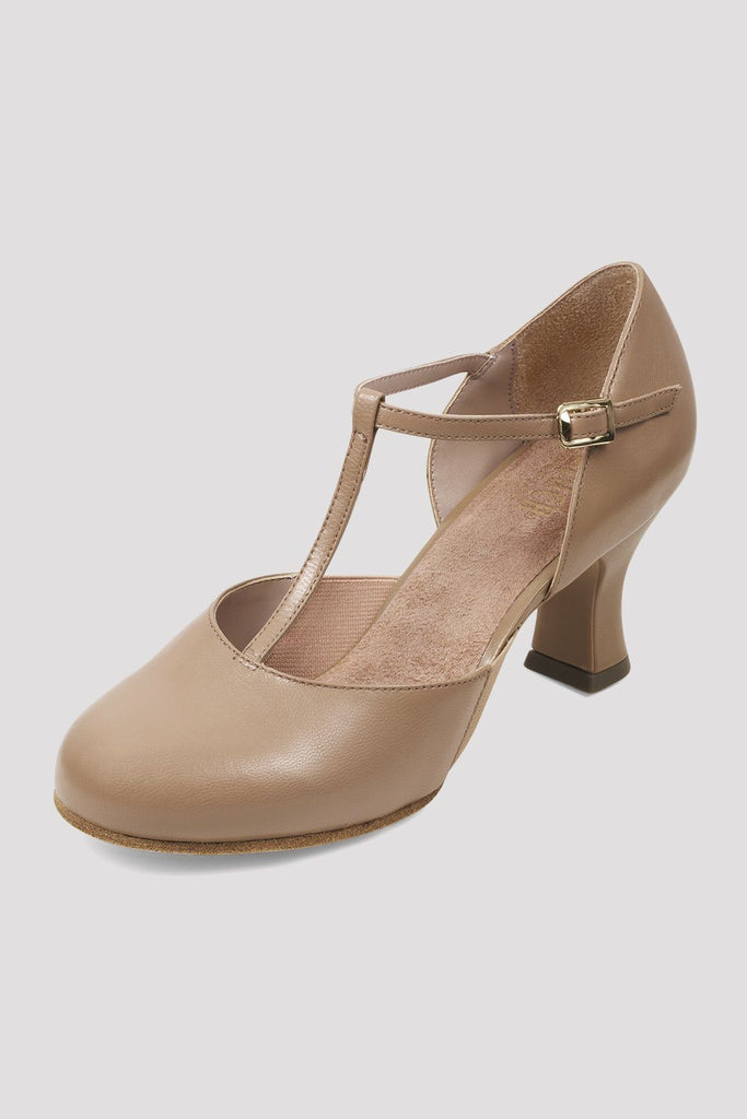 Ladies Split Flex Leather Character Shoes Character Shoes Bloch Adult 4 Tan